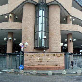 Il nuovo Palazzo di Giustizia di Torino, intitolato alla memoria di Bruno Caccia.