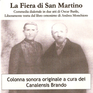 """La copertina del cd, colonna sonora originale dello spettacolo teatrale del gruppo di musica e danza tradizionale """"Canalensis Brando"""" di Canale."""